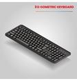 Black 3d computer keyboard vector image vector image