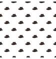 black hat pattern vector image vector image