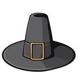 black pilgrim hat vector image