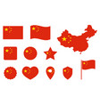 china flag icons set national symbol of the vector image