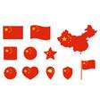 china flag icons set national symbol vector image vector image
