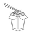 chinese food with chopstick vector image vector image