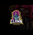 clown mascot sport logo design vector image