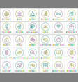 collection money operations colorful banner vector image vector image