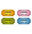 color cinema tickets vector image