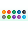 colorful number set in round shape vector image