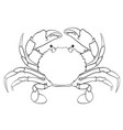coloring book for children red crab vector image vector image
