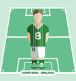 Computer game Northern Ireland Soccer club player vector image vector image