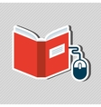 e-book concept design vector image vector image