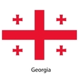 Flag of the country georgia vector image