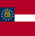 flag of the usa state of georgia vector image vector image