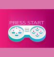 flat joystick pink vector image vector image