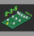 football 2-3-5 formation with isometric field vector image vector image