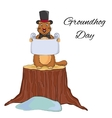 Groundhog Day cartoon design Cute groundhog in a vector image vector image
