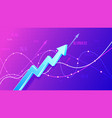 growing financial schedule 3d arrow profit growth vector image