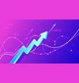 growing financial schedule 3d arrow profit growth vector image vector image