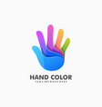 hand colorful concept design template vector image vector image