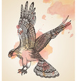 hand drawn of decorative eagle vector image