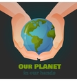 Hands holding the Earth vector image vector image