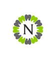 healthy dental care letter n vector image vector image