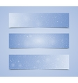 Horizontal Blue Rectangle Banners Snow Winter vector image vector image