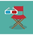 icon chair director movie design vector image vector image