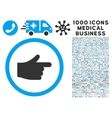 Index Pointer Icon with 1000 Medical Business vector image vector image