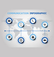 infographic design with communication icons vector image vector image