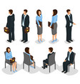 isometric business people set vector image vector image