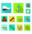 journey and seafaring icon vector image vector image