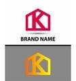 Letter k logo real estate symbol vector image vector image