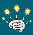 light bulb around human brain vector image