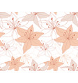lily flowers seamless pattern with blossoms vector image vector image