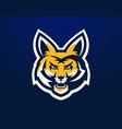 logo mascot aggressive fox vector image vector image