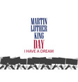 martin luther king day hands holding protest vector image vector image