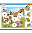 match pieces game cartoon vector image vector image