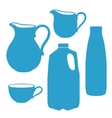 Milk bottle pitcher jug canister vector image vector image