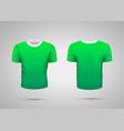 Mockup blank green realistic sport t-shirt
