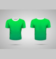 mockup of blank green realistic sport t-shirt with vector image vector image