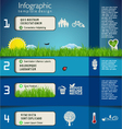 Modern blue ecology template design vector image