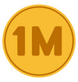 one million gold coin vector image
