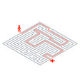 pass way intricacy labyrinth isometric maze 3d vector image vector image