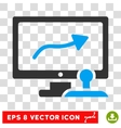 Path Control Monitor Eps Icon vector image vector image