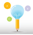 Pencil Bulb vector image vector image
