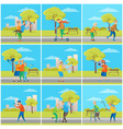 pensioners having fun in city senior people town vector image vector image