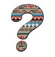 question mark decorated vector image vector image