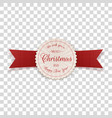 realistic merry christmas label with text vector image