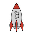 rocket launcher with bitcoin symbol vector image vector image