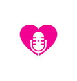 romantic podcast logo icon design vector image