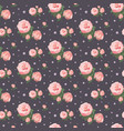 seamless rose pattern floral background vintage vector image vector image